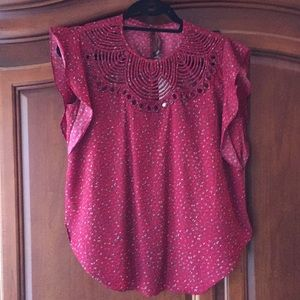 Anthropologie Flutter Top XS NWT